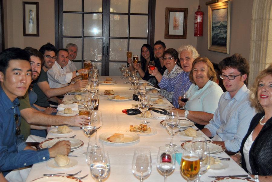 Comida ofrecida por el Restaurante El Faro