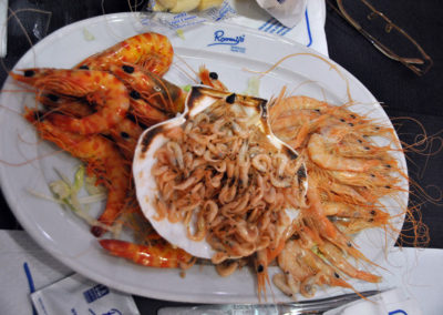 Cena invitación del patrocinador Marisquería Romerijo