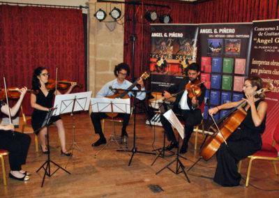 Miguel Revuelta (España) con el cuarteto de cuerda Chagall.