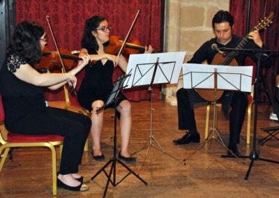Iván Darío García (Colombia) con el cuarteto de cuerda Chagall.