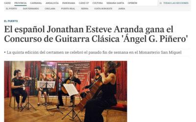 El español Jonathan Esteve Aranda gana el Concurso de Guitarra Clásica 'Ángel G. Piñero'