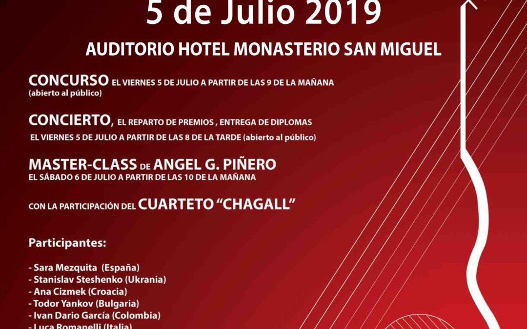 Primeras novedades de la VI edición del Concurso Internacional de Guitarra Clásica Ángel G. Piñero