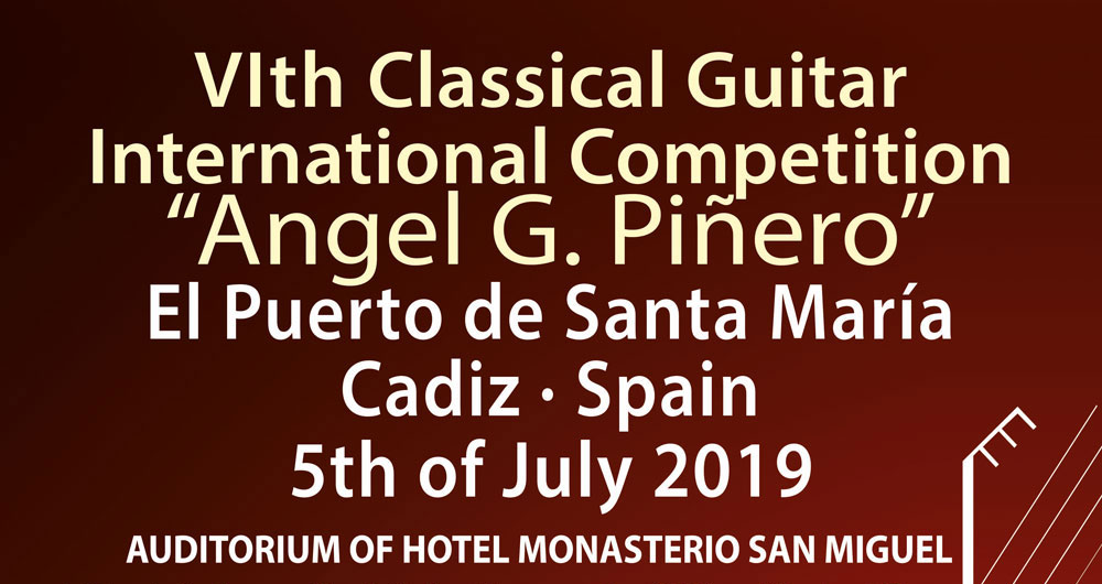 First novelties of the VI edition of the International Guitar Contest Ángel G. Piñero