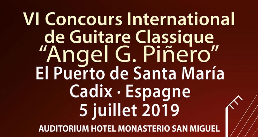 Premières nouveautés de la VIème édition du concours international de guitare Ángel G. Piñero