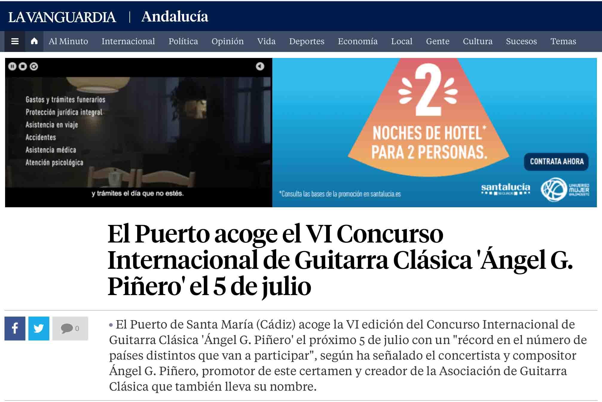 El VI Concurso Internacional de Guitarra Clásica