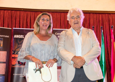 Marina Peris, councilwoman of the City Council of El Puerto de Santa María with Angel G. Piñero