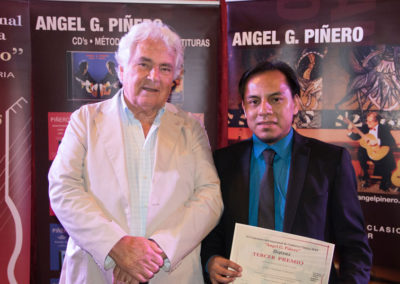 Angel G. Piñero con Abraham Velázquez (3º premio)