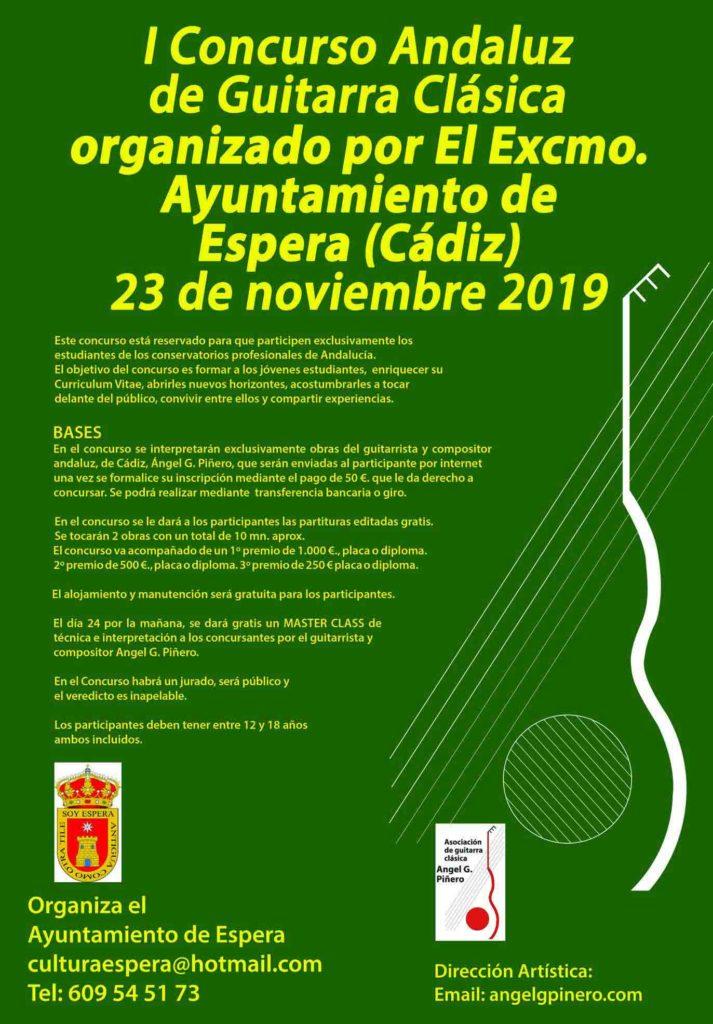 Espera acogerá el I Concurso Andaluz de Guitarra Clásica