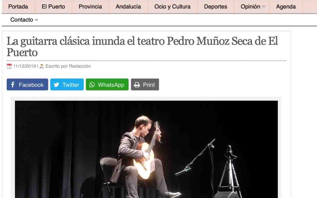 El Puerto Actualidad se hace eco del concierto de Jonathan Esteve Aranda en El Puerto de Santa María