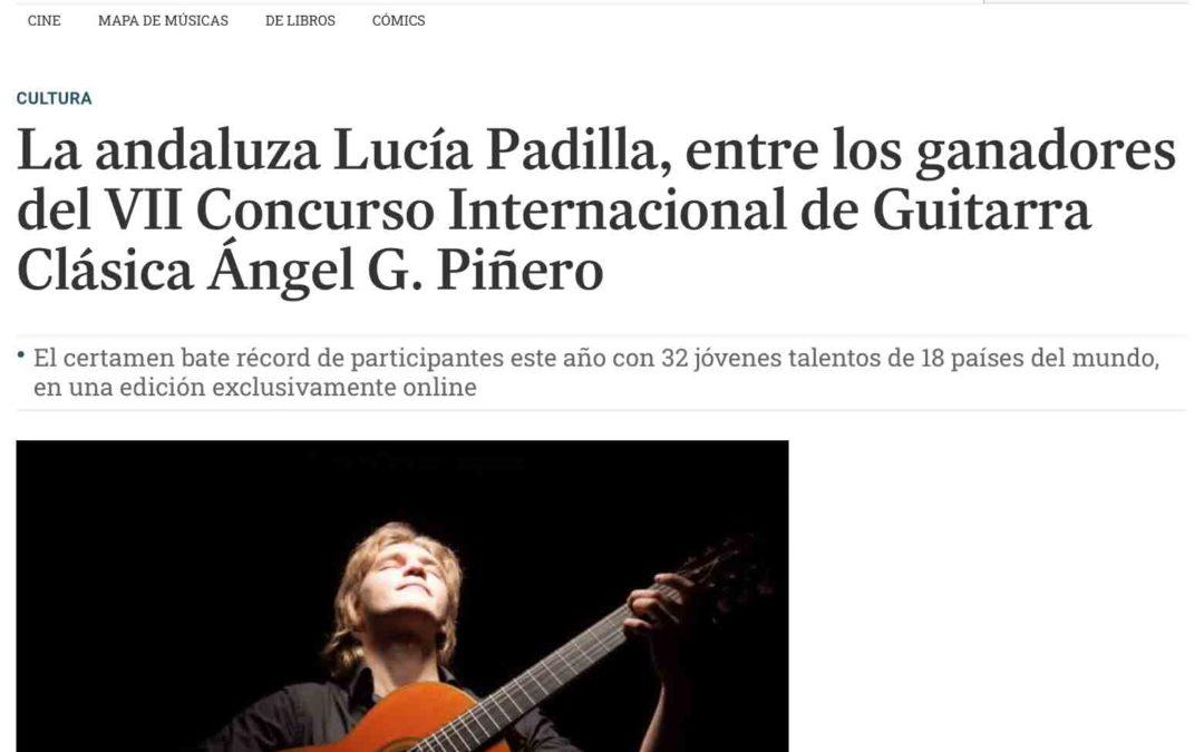 Diario de Cádiz publica el fallo del jurado del VII Concurso Internacional de Guitarra Clásica «Ángel G. Piñero»