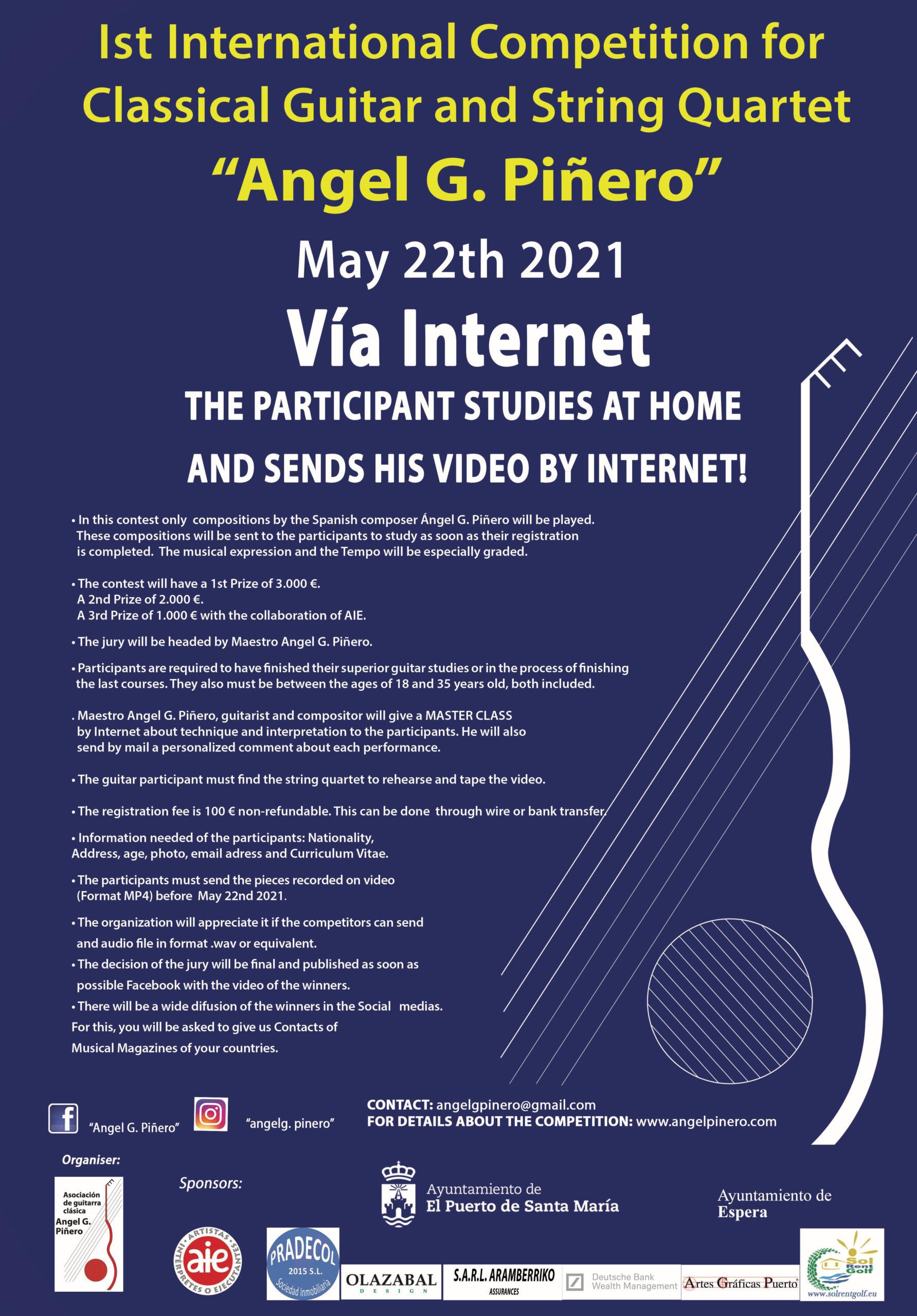 Cartel Concurso Vía Internet 2020
